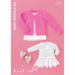 S4539 Cardigan for Little Ones in Hayfield Baby Sparkle DK