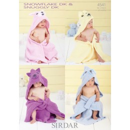 S4541 Hooded Blankets for Little Ones in Sirdar Snowflake DK and Snuggly DK