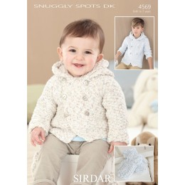 S4569 Coats and Mittens for Little Ones in Sirdar Snuggly Spots DK