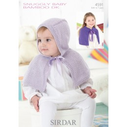 S4591 Capes for Little Ones in Sirdar Snuggly Baby Bamboo DK