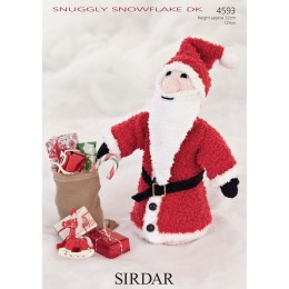 S4593 Father Christmas Toy in Sirdar Snuggly Snowflake DK