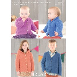 S4596 Cardigans and Jackets for Little Ones in Sirdar Snowflake Chunky