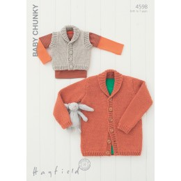 S4598 Cardigans for Little Ones in Hayfield Baby Chunky