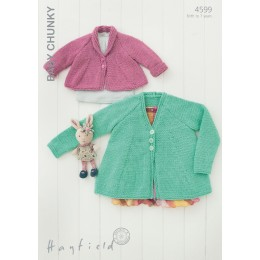 S4599 Cardigans for Little Ones in Hayfield Baby Chunky