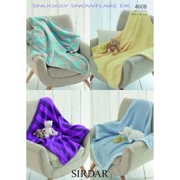 S4608 Four Blanket Designs in Sirdar Snowflake DK