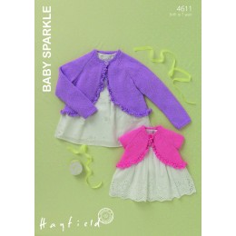 S4611 Cardigans for Little Ones in Hayfield Baby Sparkle