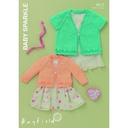 S4612 Cardigans for Little Ones in Hayfield Baby Sparkle