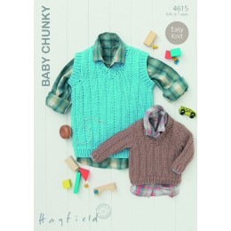 S4615 Sweater and Tank for Little Ones in Hayfield Baby Chunky