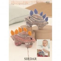 S4632 Dinosaur Toys in Sirdar Snuggly Baby Crofter DK