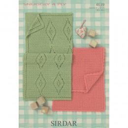 S4639 Crochet Blankets in Sirdar Snuggly 4ply