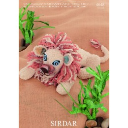 S4648 Lion Toy in Sirdar Snuggly Snowflake Chunky