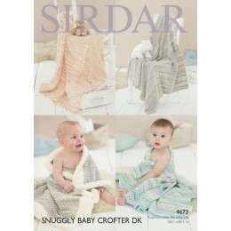 S4673 Blankets and Pillows In Sirdar Snuggly 2ply, 3 ply and 4ply