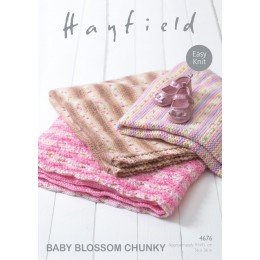 S4676 Blankets in Sirdar Blossom Chunky