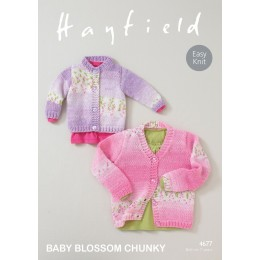 S4677 Cardigans for little ones in Sirdar Blossom Chunky