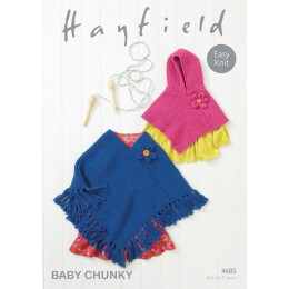 S4685 Poncho's for little ones in Hayfiled Baby Chunky