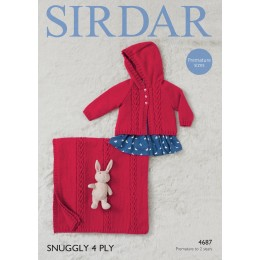 S4687 Jacket and Blanket for Little Ones in Sirdar 4 Ply