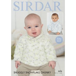 S4696 Sweaters for Little Ones in Sirdar Snuggly Snowflake Chunky