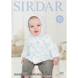 S4697 Jacket for Little Ones in Sirdar Snuggly Snowflake Chunky