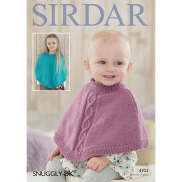 S4702 Poncho for Little Ones in Sirdar Snuggly DK