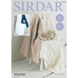 S4716 Four Blanket designs in Sirdar Smudge