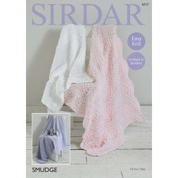 S4717 Four Blanket Designs in Sirdar Smudge