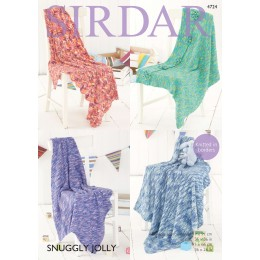 S4724 Four Blanket designs in Sirdar Jolly