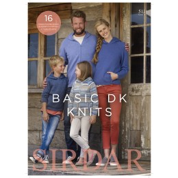 S511 Basic DK Knits, 16 Designs for Men, Women and Children in a selection of Sirdar DK yarns