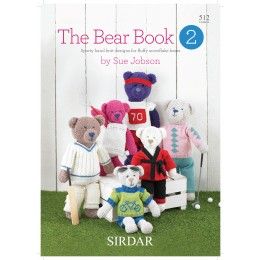 S512 The Bear Book 2, sporty hand knit designs by Sue Jobson for fluffy Snowflake bears