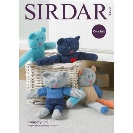 S5200 Crochet Teds in Sirdar Snuggly DK