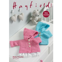 S5206 Crochet Coat in Hayfield Baby Chunky