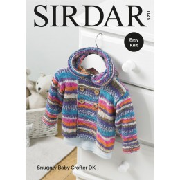 S5211 Baby Boy's and Boy's Duffle Coat in Sirdar Snuggly Baby Crofter DK