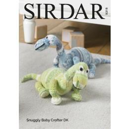 S5215 Dinosaur in Sirdar Snuggly Baby Crofter DK