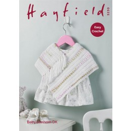 S5230 Baby's Poncho in Hayfield Baby Blossom DK
