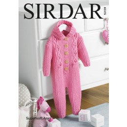 S5239 Hooded All-In-One in Sirdar Supersoft Aran