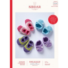 S5249 Baby Shoes in Sirdar Snuggly Cashmere Merino DK