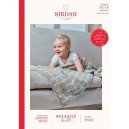 S5258 Blanket in Sirdar Snuggly Bouclette