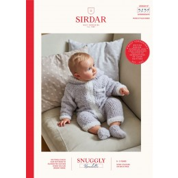 S5259 Baby's Hooded Onesie & Booties in Sirdar Snuggly Bouclette