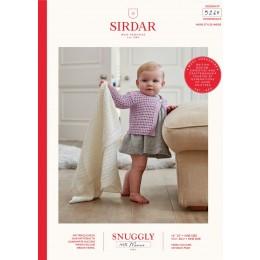 S5260 Blanket & Cardigan in Sirdar Snuggly 100% Merino 4Ply