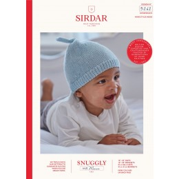 S5262 Hats & Bonnets for Babies in Sirdar Snuggly 100% Merino 4Ply