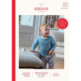 S5270 Boy's Sweater & Tank Top in Sirdar Snuggly 100% Cotton DK