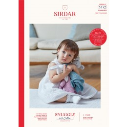 S5273 Bear & Rabbit Comforter in Sirdar Snuggly 100% Cotton DK