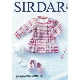 S5295 Girl's Tunic/Dress in Sirdar Snuggly Baby Crofter DK