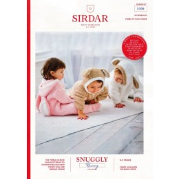 S5306 Baby's Bunny, Sheep and Teddy Bear All-In-One in Sirdar Snuggly Bunny