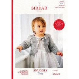 S5309 Baby's Round Neck Bolero and V Neck Sleeveless Bolero in Sirdar Snuggly Bunny