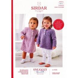 S5312 Dress and Sweater/Tunic in Sirdar Snuggly Bouclette