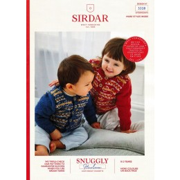 S5328 Round Neck Fair Isle Cardigan in Sirdar Snuggly Heirloom