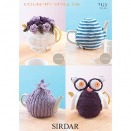 S7120 Tea Cosy's in Sirdar Country Style DK