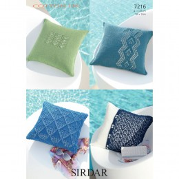 S7216 Cushion designs in Sirdar Cotton DK