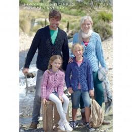 S7249 Cardigans for Men, Women and Children in Hayfield Bonus Aran Tweed