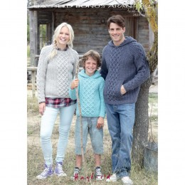 S7254 Sweater for Men, Women and Children in Hayfield Bonus Aran with Wool